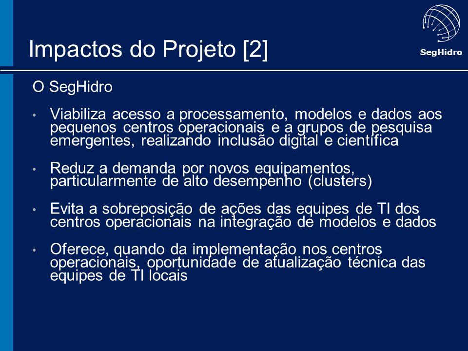 Impactos do Projeto [2] O SegHidro